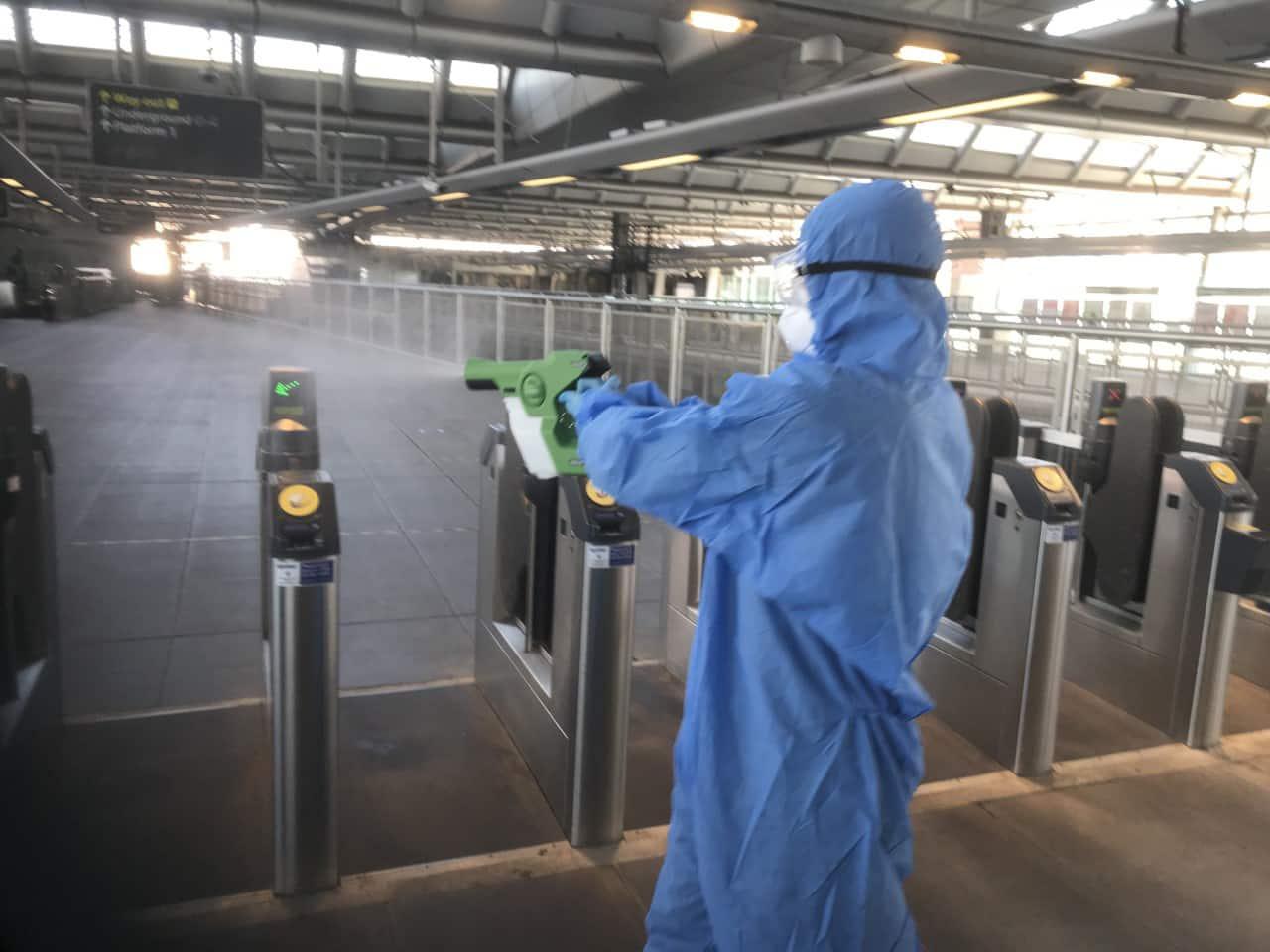 Govia Thameslink Railway uses 30 day coronavirus killer on trains and at stations