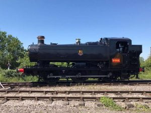 9466 cleaned ready to leave the Gloucestershire Warwickshire Railway