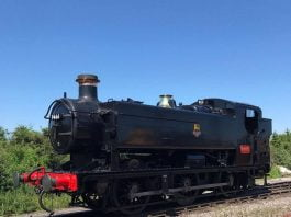 steam locomotive 9466 cleaned ready to leave the Gloucestershire Warwickshire Railway