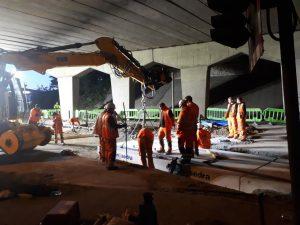 Mid Norfolk Railway level crossing work