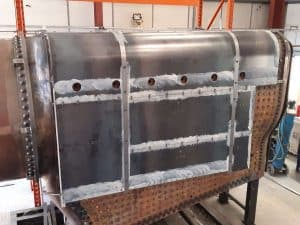 Boiler cladding for 5551 The Unknown Warrior