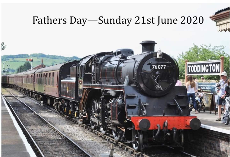 steam locomotive 76077 Father's Day Share Offer // Credit Toddington Standard Locomotive Ltd