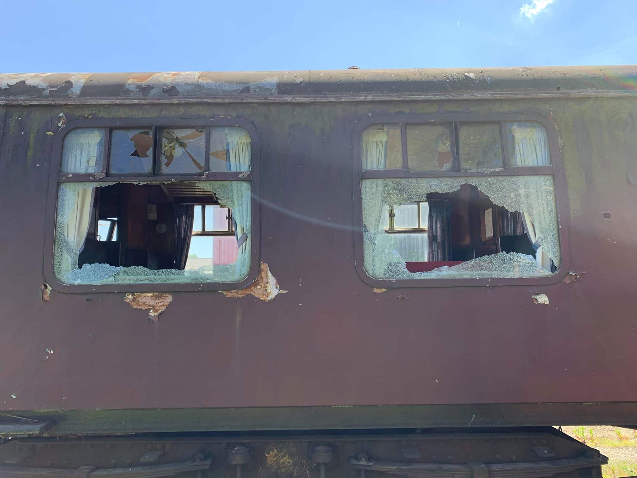 Vandalism at the Midland Railway - Butterley