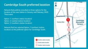 Cambrigde South station location options
