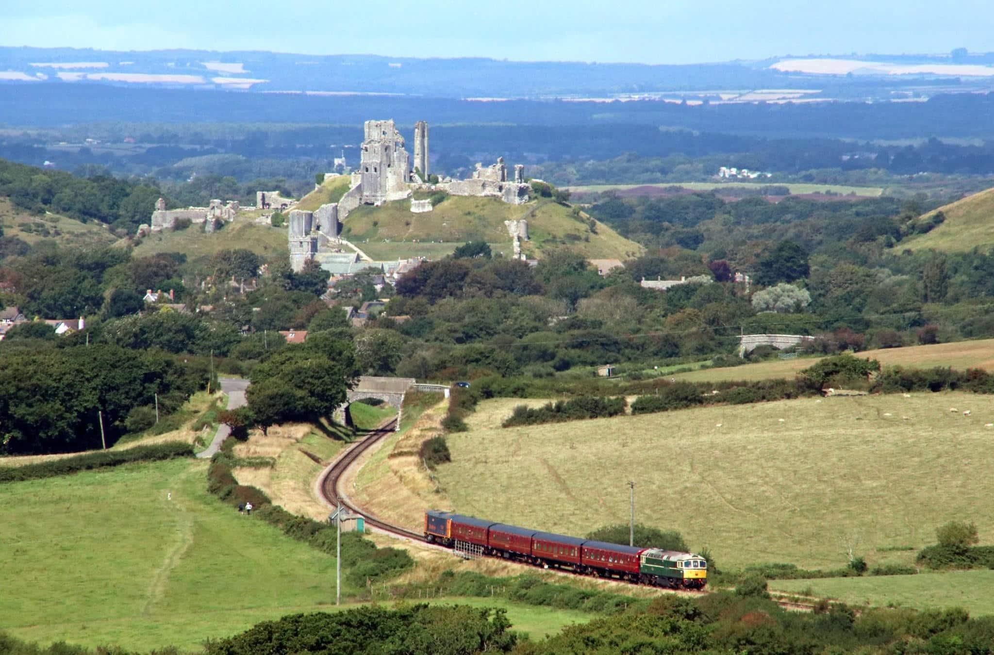 Corfe Castle and Swanage Railway // Credit Swanage Railway