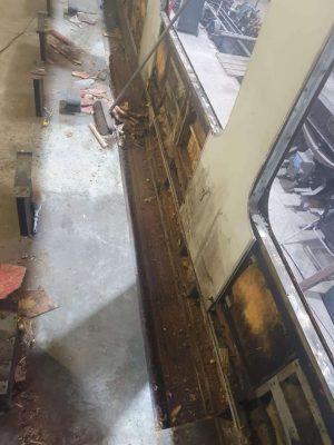 Cutting Out Work on BR MK2A // Credit Wensleydale Railway