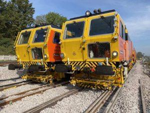 Colas Rail tampers in Guildford