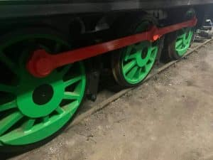 Jacks Green Newly Painted Coupled Wheels // Credit The Small Loco Group