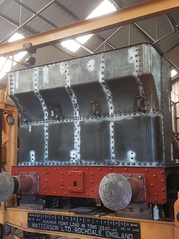 Great Western Steam Locomotive 1466 Rebuilt Bunker // Credit GWS