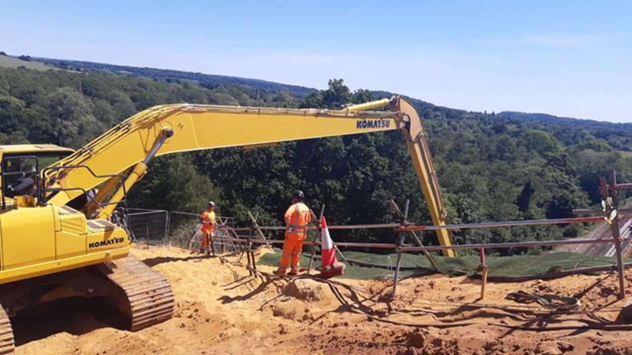 ST Catherines tunnel guildford embankment repair work