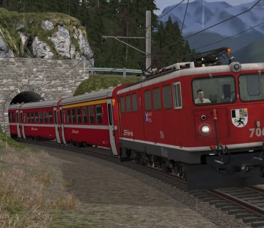 Engadin Line released for train simulator