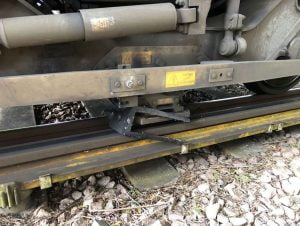 Southampton Train Damage Debris on Track