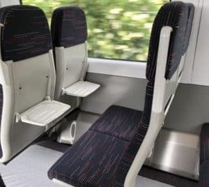 Bombardier seats in the new Greater Anglia trains