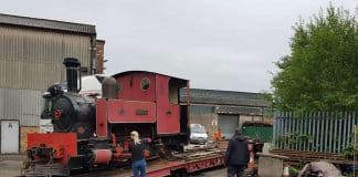 Dromad arrives at the Cavan and Leitrim Railway
