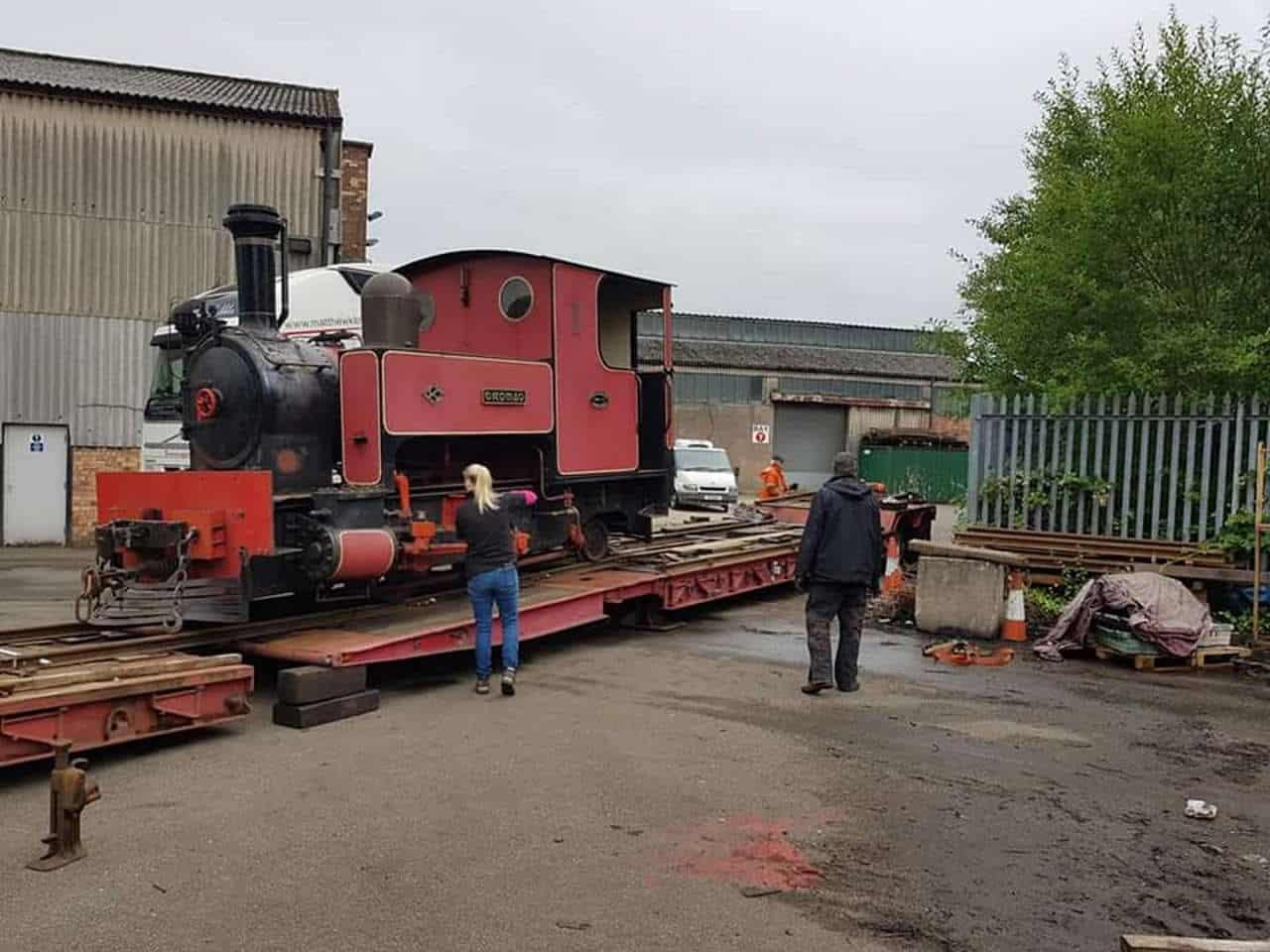 Dromad arrives at the Cavan and Leitrim Railway