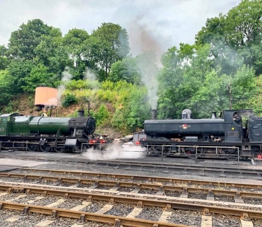 Steam testing 2857 and 7714 two of the locomotives that will haul reopening services