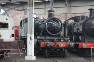 5164 awaiting overhaul at Barrow Hill Roundhouse