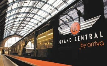 Grand Central Train at Kings Cross Station