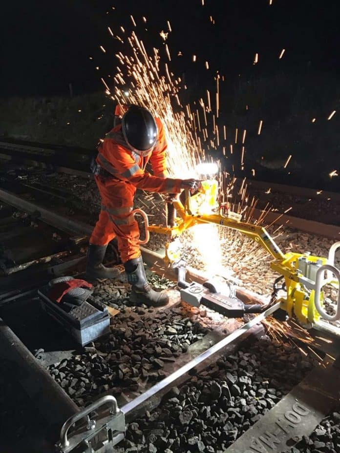 Ipswitch track work at night