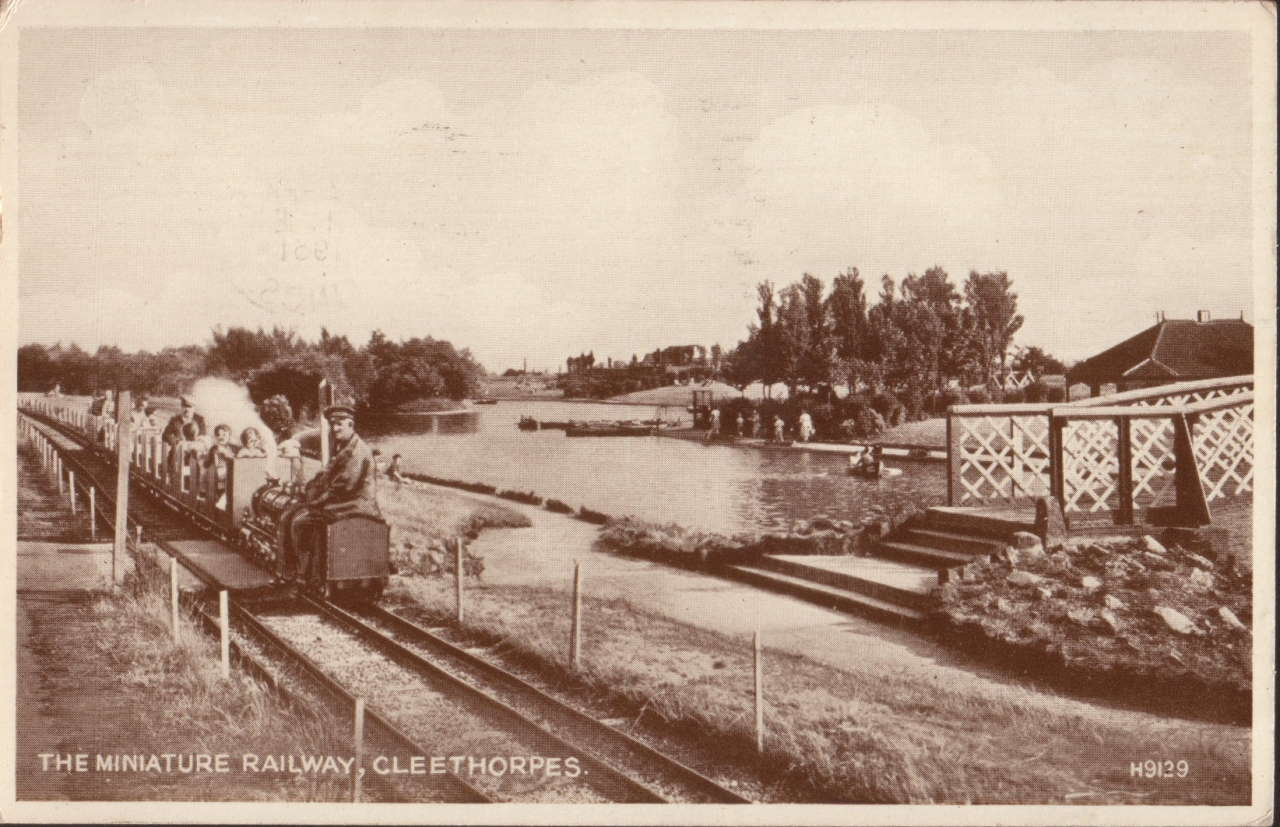 Old postcard of the Lincolnshire Coast Light Railway
