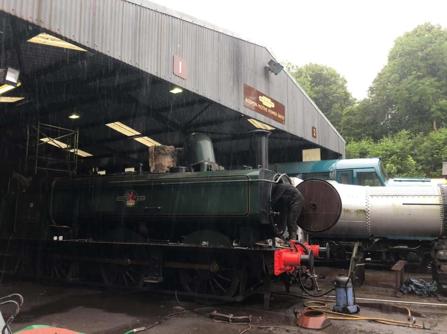 Refitting Smokebox Components before Steam Tests // Credit Leaky Finders Ltd