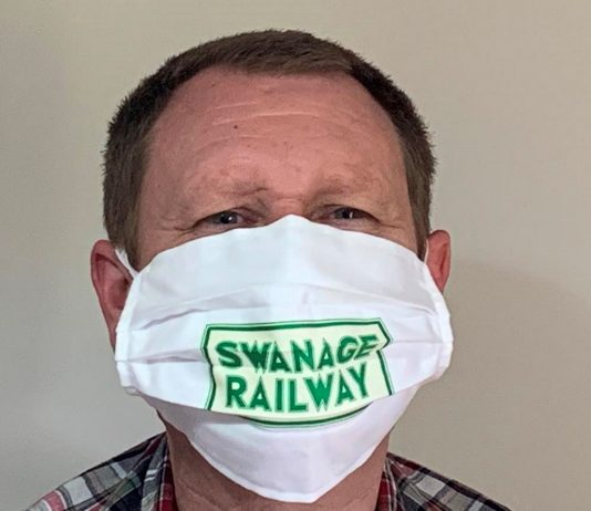 Swanage Railway release face masks as steam returns to Purbeck