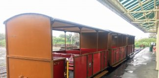 Open carriages used as cafe reopens at the Talyllyn Railway