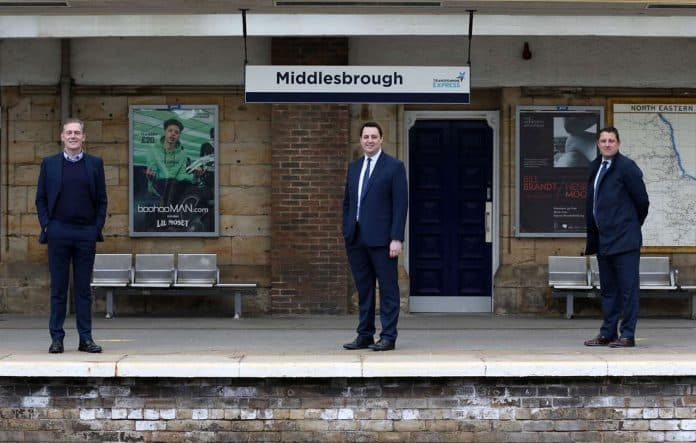 Middlesbrough Mayor, Tees Valley Mayor and Director for Network at Middlesbrough station to London Trains