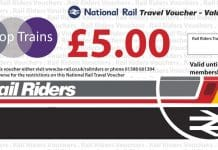 Rail Riders travel voucher