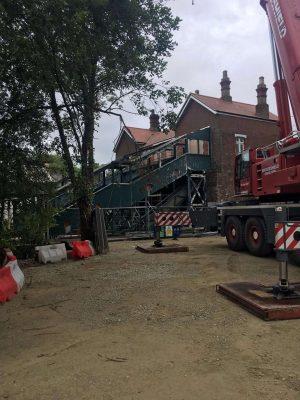 Eridge station footbridge being replaced