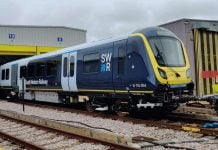South Western Railway Class 701 arrives at Wimbledon depot