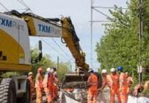 Track replacement on the Tyne and Wear Metro