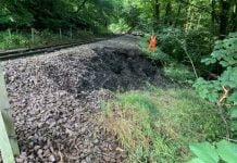 Landslip causes £100,000 repairs on the Bo'ness and Kinneil Railway