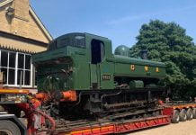 Steam Locomotive 4612 Arrives at NVR // Credit Wansford MPD - Home of the NVR Engineering Dept. FB Group