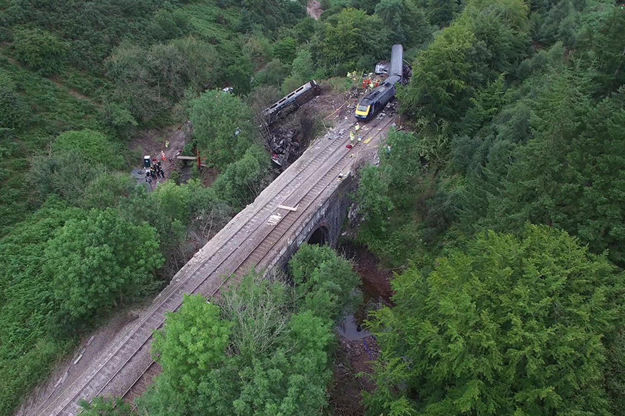 Stonehaven train crash scene