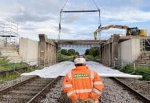 Crewe railway bridge overhaul