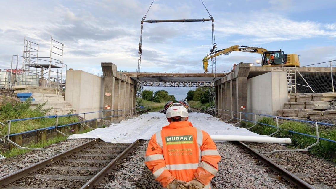 Crewe railway bridge overhaul