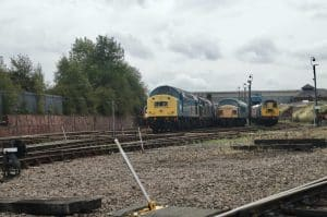 Barrow Hill Roundhouse with Class 40 40145