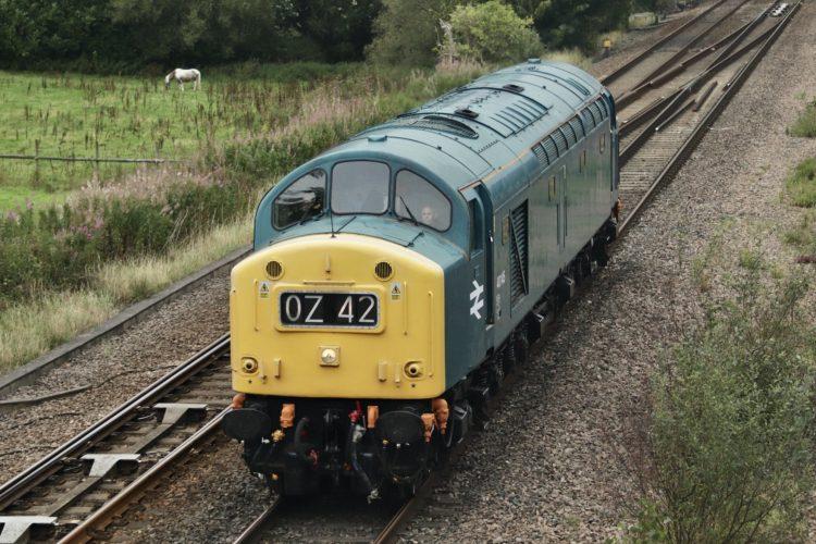 40145 on the mainline near Chesterfield