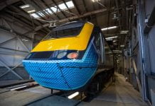 ScotRail applies face covering decals to HST power cars