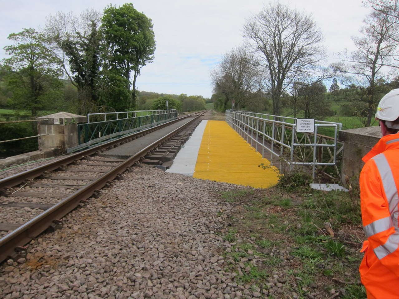 Network Rail takes action to deter walkers from trespassing on Sleights railway bridge