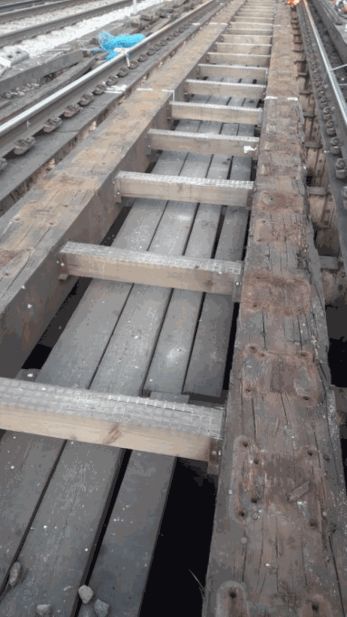 New Hardwood Timber Fitted // Credit Network Rail