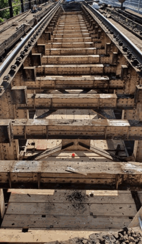 Old Softwood Timbers Removed // Credit Network Rail