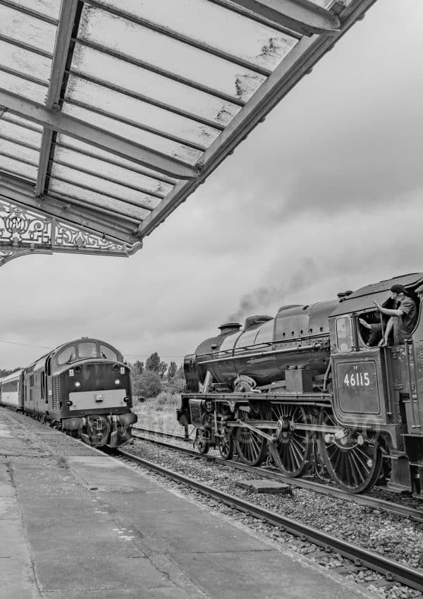 37521 and 46115 Scots Guardsman at Hellifield