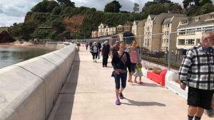 Work will continue in Dawlish in the summer to instal seating and lighting