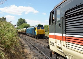 Class 50 locomotives on the Severn Valley Railway