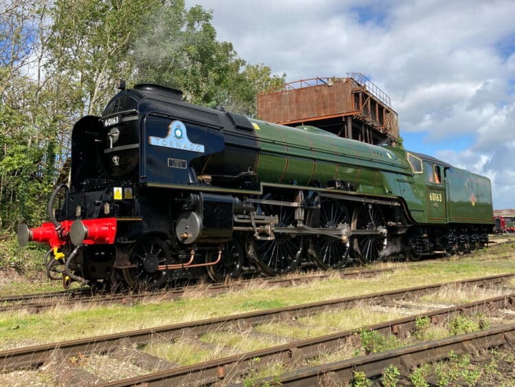 60163 Tornado in BR Green at Carnforth Steamtown