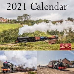 RailAdvent 2021 Calendar Steam Trains Diesel Trains and Trams