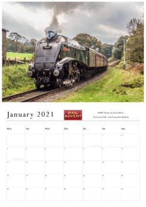 RailAdvent Calendar Month Example with image