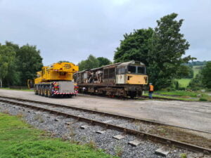 58022 arriving at the Ecclesbourne Valley Railway